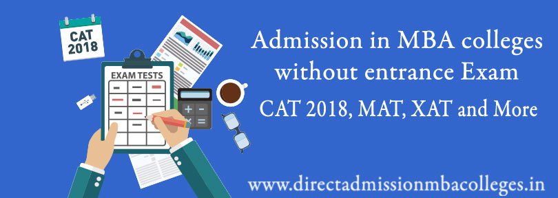 Admission in MBA colleges without entrance Exam