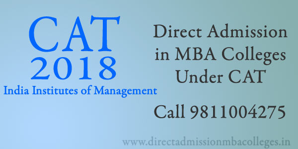 Direct Admission MBA Colleges Under CAT