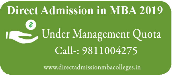 Admission MBA 2019 Under Management Quota
