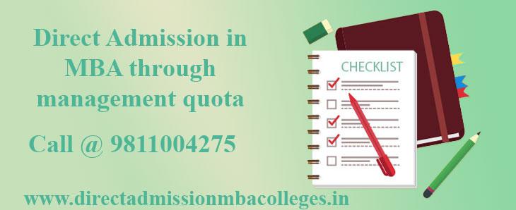 Direct Admission in MBA through management quota