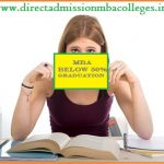 MBA Admission below 50 in graduation